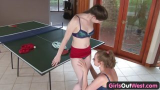 Girls Out West – Amateur girls lick their hairy cunts