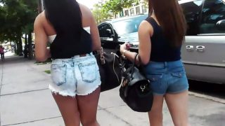 Two White Chicks In Short Shorts & Flip Flops