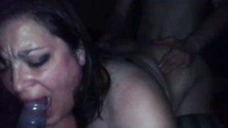 Husband treats bbw wife with bbc threesome
