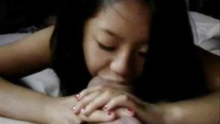 Asian American With Great Tits POV Blowjob